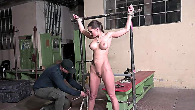 BDSM in the dungeon with Barbara Kysivics being a sex slave